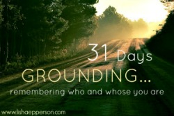31daysGroundingA